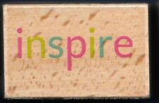 INSPIRE Occasion Words Religious Inspiration NEW HAMPTON ART Craft RUBBER STAMP
