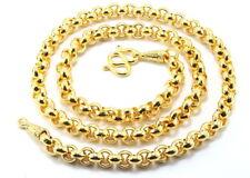 "Classic Thai Rolo Men Chain 28"" Big&Heavy Necklace 22K 24K Gold GP Jewelry GT26"