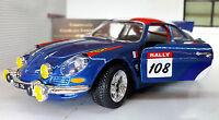 LGB 1:24 ECHELLE 1971 RENAULT ALPIN A110 1600S Rally BURAGO voiture miniature