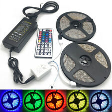 32.8FT 10M 5050 RGB LED Strip Light +44key IR Remote Controller +12V 2A/5A Power