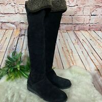 Stuart Weitzman Suede Fur Lined Over The Knee Boots Womens Size 7.5