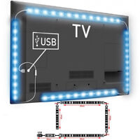 2M 5050 RGB USB LED TV Light Strip Mood Backlight Multi Color Changing Dimmable