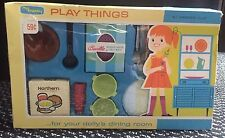 MY MERRY TOYS: PLAYTHINGS...FOR YOUR DOLLY'S DINING ROOM: COMPLETE SET 1962