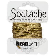 Beadsmith Soutache con textura metálica Cable De 3 Mm De Ancho-Oro Mate 3 Metros (f32/13)