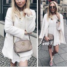 Zara Ecru Tweed Frock Coat With Pockets Size XL UK16 Bnwt