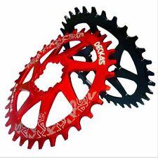 Platos y coronas rojo para bicicletas