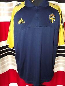 ' 2000-02 Sweden #4 Polo T-Shirt (L) Shirt Jersey Trikot Maillot Maglia Camiseta