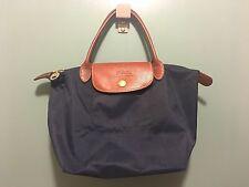 Longchamp Navy Blue Small Tote Shopper Handbag