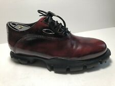 RARE⚡️ Oakley Made in Italy Sz 8 Men's Golf Shoes Cherry Red-Brown Leather