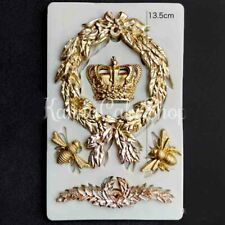 Frame Bee Crown Fondant Silicone Mould Sugarcraft Border Baroque Cake Bow Mold