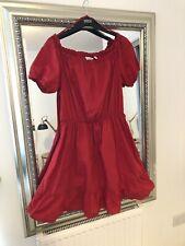 & Other Stories Red Bardot Off-Shoulder Dress Boho Chic EU 42 UK14/16 RRP £45