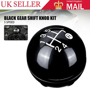 5 Speed Gear Stick Shift Knob Headball Kit Black For Fiat 500 500c 2007-2015 NEW