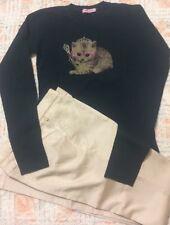 Re-Hash Pantaloni Beige Tg.27/38 e T-shirt Romeo&Julieta Blu Tg.12/38