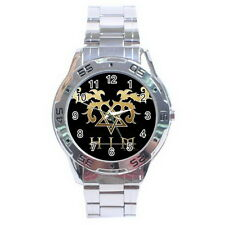 HIM HEARTAGRAM Stainless Steel Analogue Men's Watch For Gift NEW