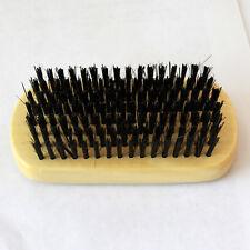 CRT Men Boar Hair Bristle Beard Mustache Brush Military Hard Round Bamboo Handle