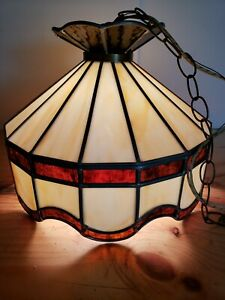 Tiffany Style Hanging Ceiling Lamp Stained Glass Light Chandelier 15""