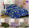 Emoji Icons Duvet Quilt Cover White Black Faces Blue Emojis Happy Funny Bedding