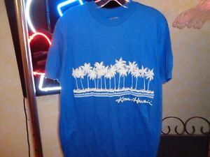 80s M/L VTG Kona Hawaii Puffy Print Rival tees single stitch Hanes tag t-shirt