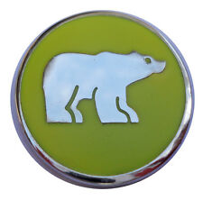 Polar Bear Golf Ball Marker with Yellow Background - Package of 2