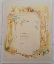 Old Print Factory Baby'S Birth Record Certificate Scrapbooking Framing #Crt022