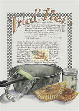 REPRINT PICTURE of older print FRIED PIES RECIPE baking kitchen 5x7