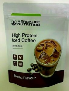HERBALIFE NUTRITION HIGH PROTEIN ICED COFFEE LOW FAT MOCHA FLAVOUR 322G SEALED