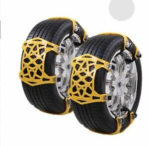 Catene da Neve,Vococal 4PCS Catene Antiscivolo Catene per Pneumatici per Berlina SUV MPV per Snow Muddy Glassa Road