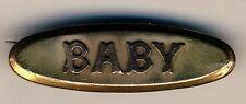 """BABY"" Brosche vergoldet / Brooch gold-plated * Original um 1910 England"