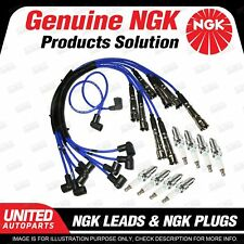 8 x NGK Spark Plugs + Ignition Leads Set for Mercedes Benz 560SEC 560SEL 560SL
