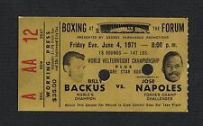 RARE 1971 World Championship JOSE NAPOLES vs BILLY BACKUS  boxing ticket