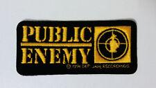 Public Enemy 1991 STICKER PATCH Def Jam Recordings music patch RARE logo