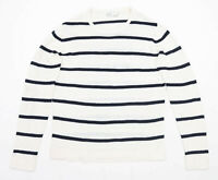 Bershka Mens Size L Striped White Jumper