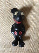 True Vintage 1930's Seiberling Black Rubber MICKEY MOUSE Figurine Walt Disney