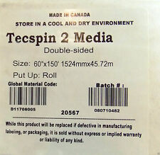 """Tecspin 2 Media Double-Sided  Paper Roll x Spinjet 60"""" x 150' - Wide Format"""