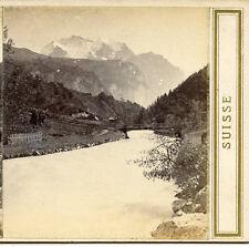 A BRAUN  DORNACH HAUT RHIN FR LAUTERBRUNNEN VALLEY VIEW OF JUNGFRAU SWITZERLAND