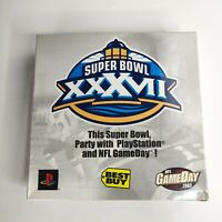 Super Bowl XXXVII Party Kit NFL Game Day 2003 Playstation 2 PS2 / Best Buy Promo