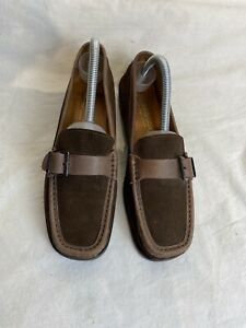 Russell & Bromley Ladies Brown Suede Loafers Shoes Uk 4/4.5 Ref Ba02