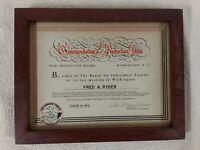 WW2 WAR PRODUCTION BOARD manufacturing HISTORY award 1944 LABOR MANAGEMENT