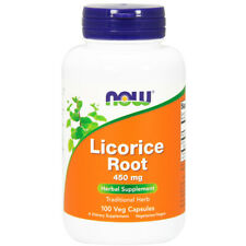 Licorice Root, 450mg x 100 Veg Capsules - NOW Foods