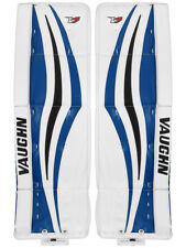 """New Vaughn Xr Pro Sr. goalie leg pads 35""""+2 Black/Blue Velocity V7 senior hockey"""