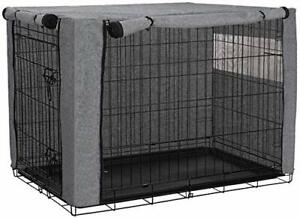 """42"""" Dog Crate Cover, Durable Windproof Pet Kennel Cover Provided for Wire Cage"""