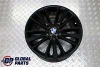 "BMW E81 E82 E87 E88 Black Rear Alloy Wheel Rim 8,5J 18"" ET:52 W-Spoke 263"