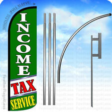 Income Tax Service - Windless Swooper Flag Kit 15' Feather Banner Sign gq