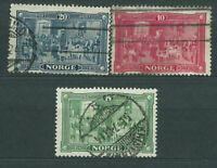 Norway - Mail 1914 Yvert 88/90 Or