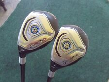 LH TaylorMade JetSpeed Hybrid Set 3 & 4 Hybrids Mens Stiff Graphite Golf Clubs