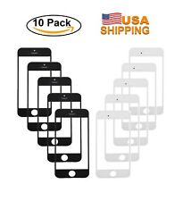 Lot of 10X Black & White Outer Glass Lens Screen For Apple iPhone 5S Replacement
