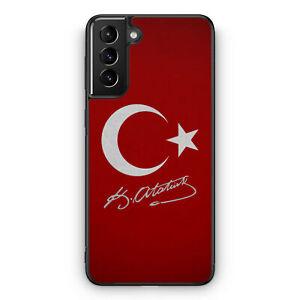 Türkei + Atatürk Silikon Hülle für Samsung Galaxy S21 Motiv Design Türkiye Tü...