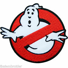 8.5 CM. No Ghost Ghostbusters Movie Cartoon Children Kids Iron on Patches #M015