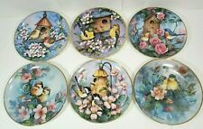 6 Royal Doulton England Carolyn Shores Wright Bird Flower Decor Plate Collector