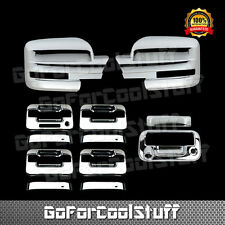 For Ford F-150 09-14 Chrome Mirror, Door Handle & Tailgate Cover W/ Camera Hole